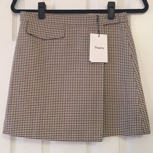 Theory - Multi Fremont Plaid Skirt